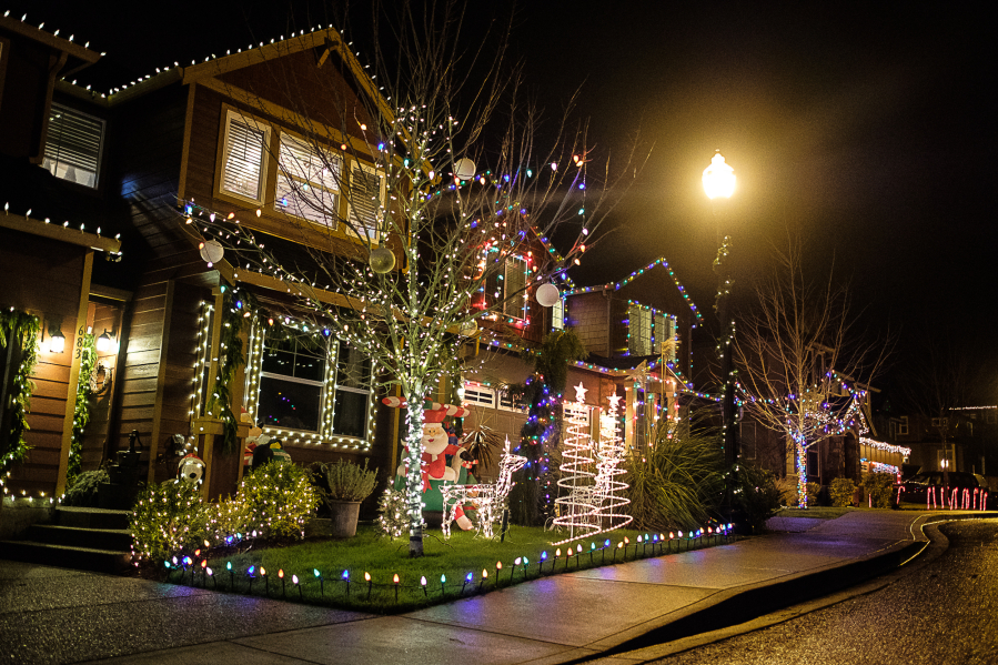 its a neighborhood tradition that most every home on 51st street is decorated