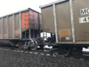 A coal train partially derailed Wednesday morning about a mile from Wintler Park in Vancouver.