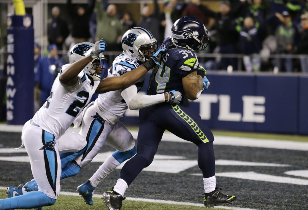 516c0b71a78 Rawls leads Seahawks to pummeling of Panthers