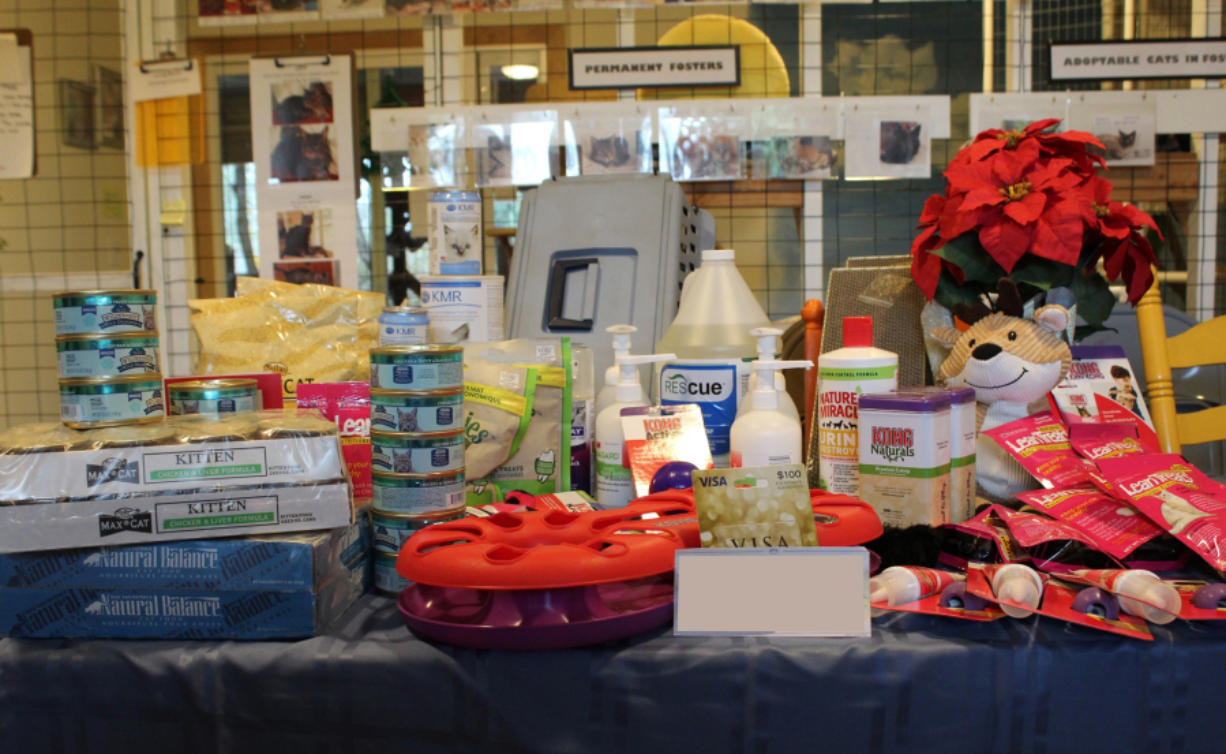 Walnut Grove: Some of the items donated to Furry Friends through Tanika and Mike Campbell's annual pet food drive.
