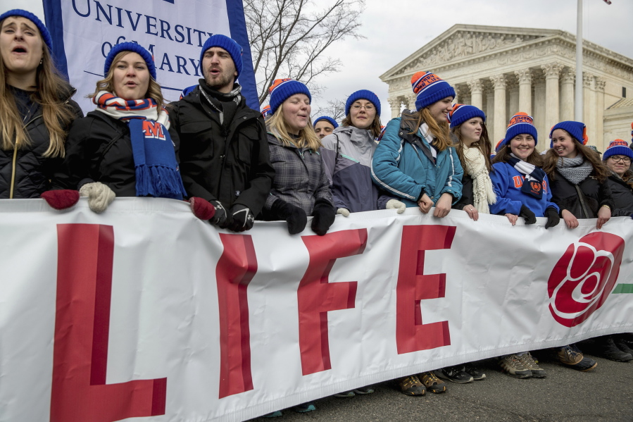 Anti-abortion groups rally in triumph to celebrate end of