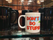 Three years ago a DDSS mug mixed with Trump mugs in Vegas.