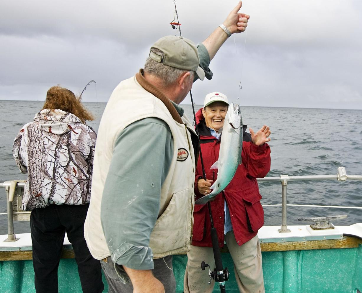 Ocean salmon season off southern Washington and northern Oregon closed prior to Labor Day in 2016 and another short season looms as a possibility this year. (Bill Wagner/Longview Daily News)
