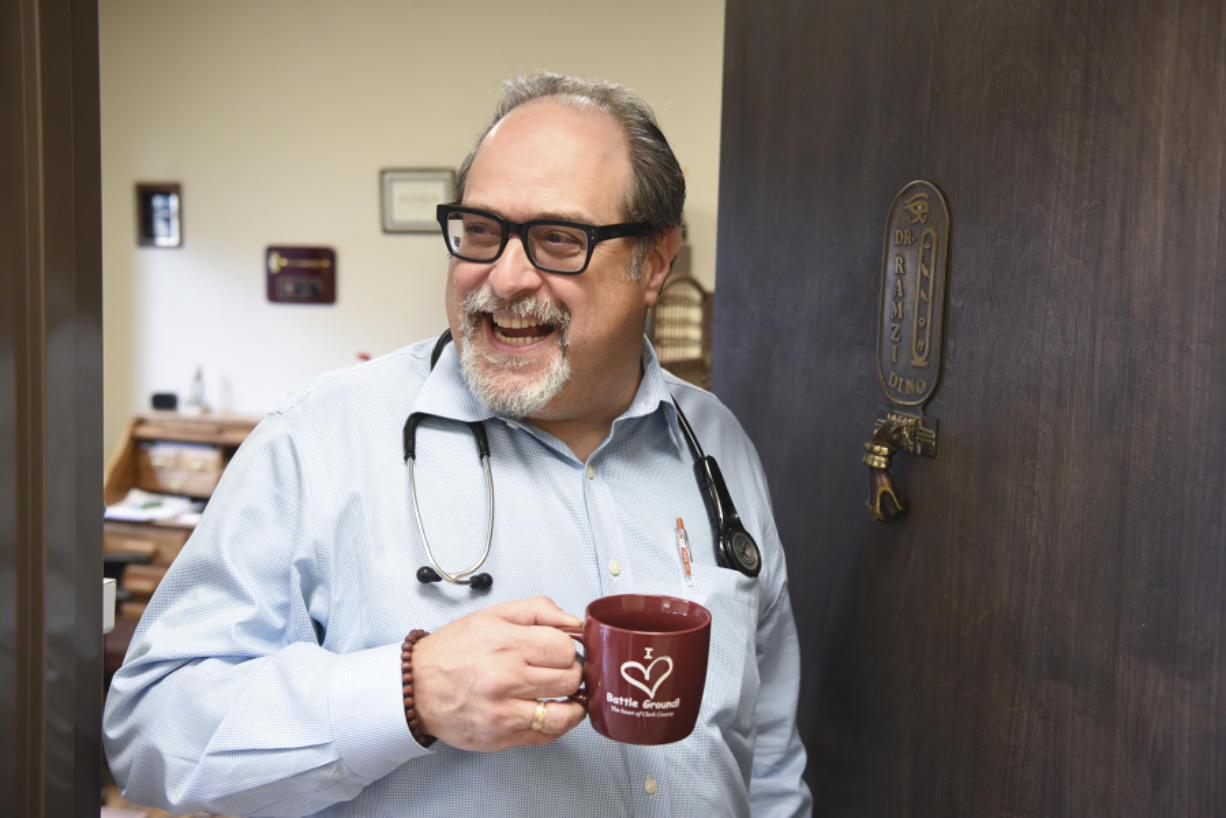 Dr. Dino Ramzi opened his Battle Ground medical office, Patient Direct Care, in 2017. (The Columbian files)