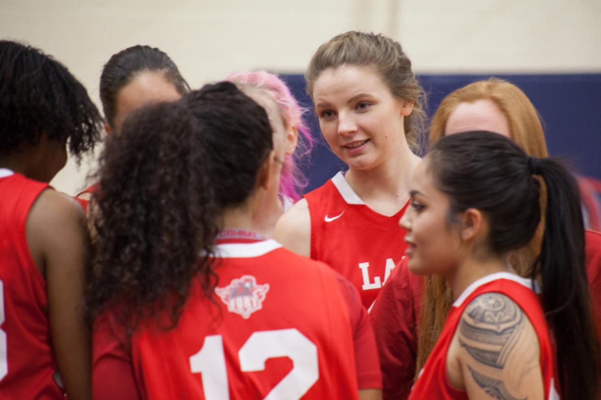 Sydney Brugman has taken on many leadership positions at Fort Vancouver High School. She is the captain of the basketball, soccer and softball teams. She is also the school's student body president.