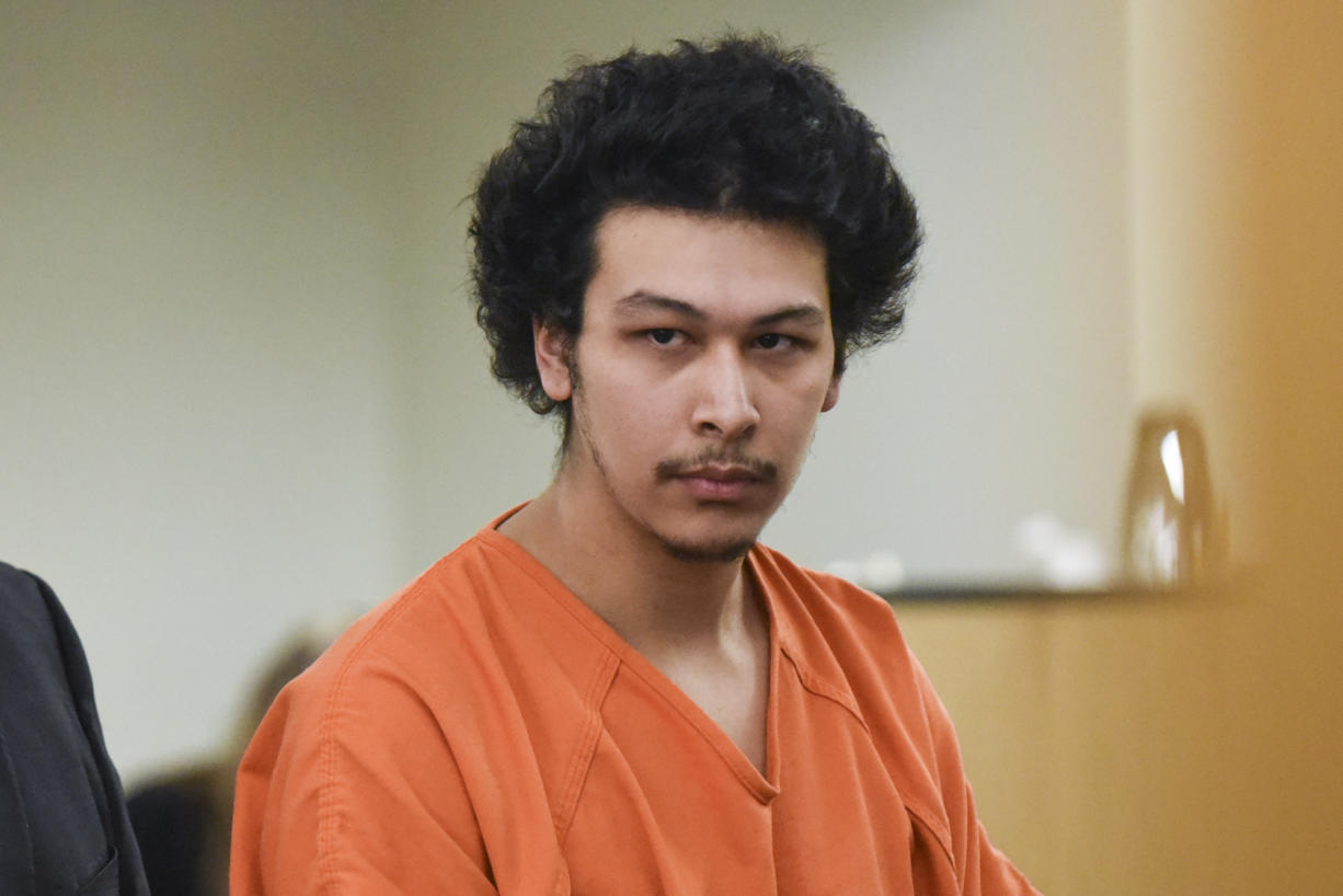 Ernesto Estrada-Tapia, 24, makes a first appearance Monday, Feb. 6, in Clark County Superior Court on a warrant charging him with vehicular homicide and hit-and-run driving causing injury or death in connection with the death of a Vancouver man in January.