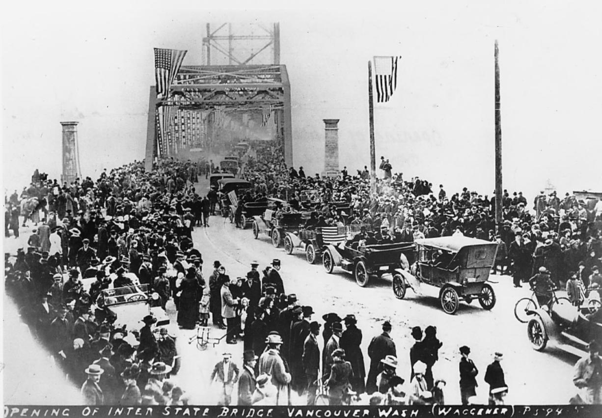 One hundred years ago Tuesday, the Interstate Bridge across the Columbia River officially opened to the public.