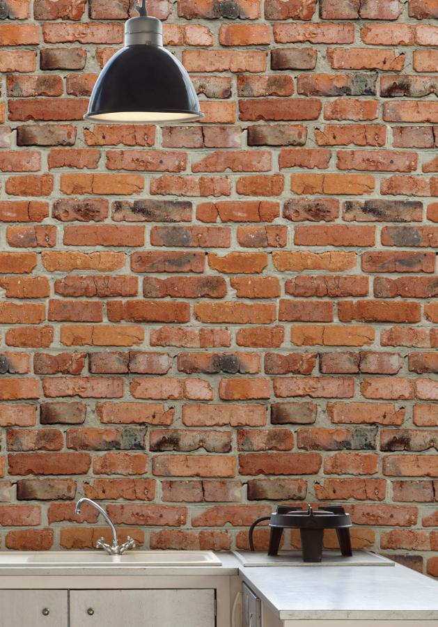 Camden Factory Bricks wallpaper. (Milton King)