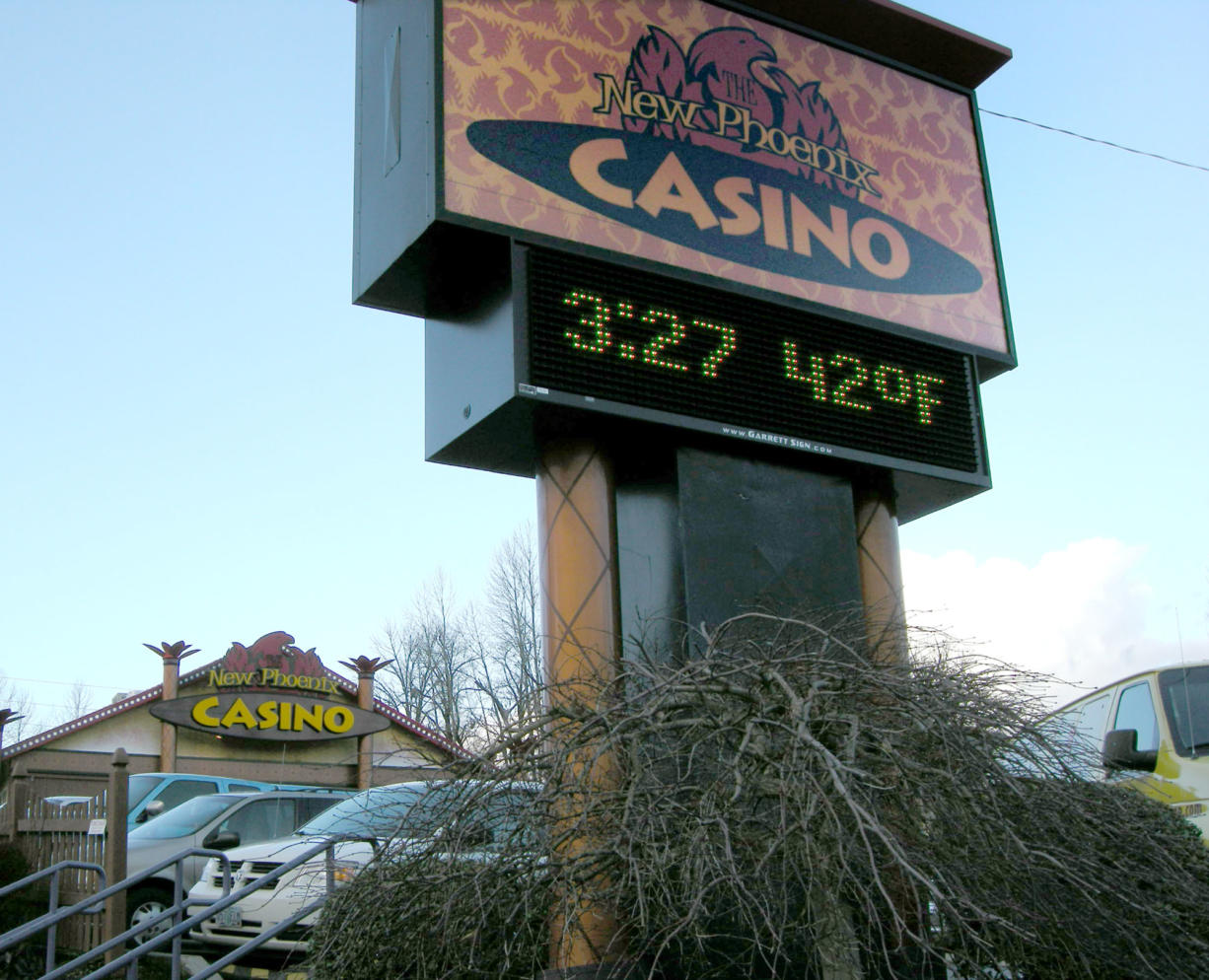 The New Phoenix Casino in La Center will close Sunday. (Columbian files)