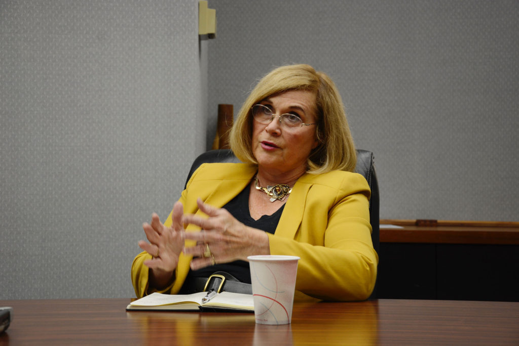 State Rep. Sharon Wylie, D-Vancouver, meets with The Columbian's Editorial Board.