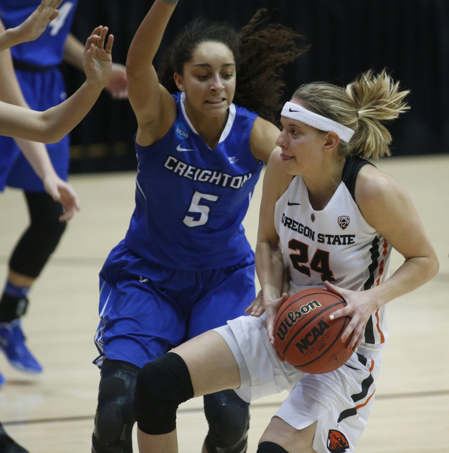 4724816af Oregon State women beat Creighton for return to Sweet 16
