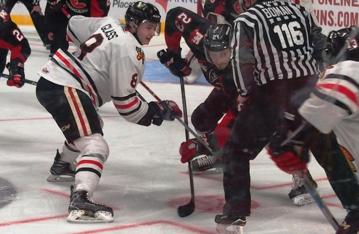 Cody Glass (8) and the Portland Winterhawks will faceoff against the Prince George Cougars in the first round of the 2017 Western Hockey League playoffs.