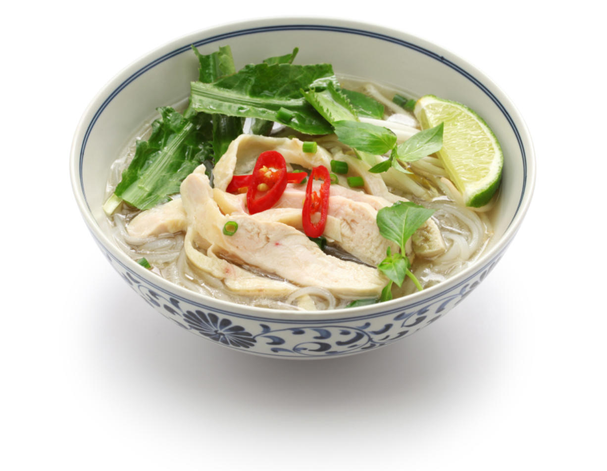 Pho ga, Vietnamese chicken rice noodle soup.