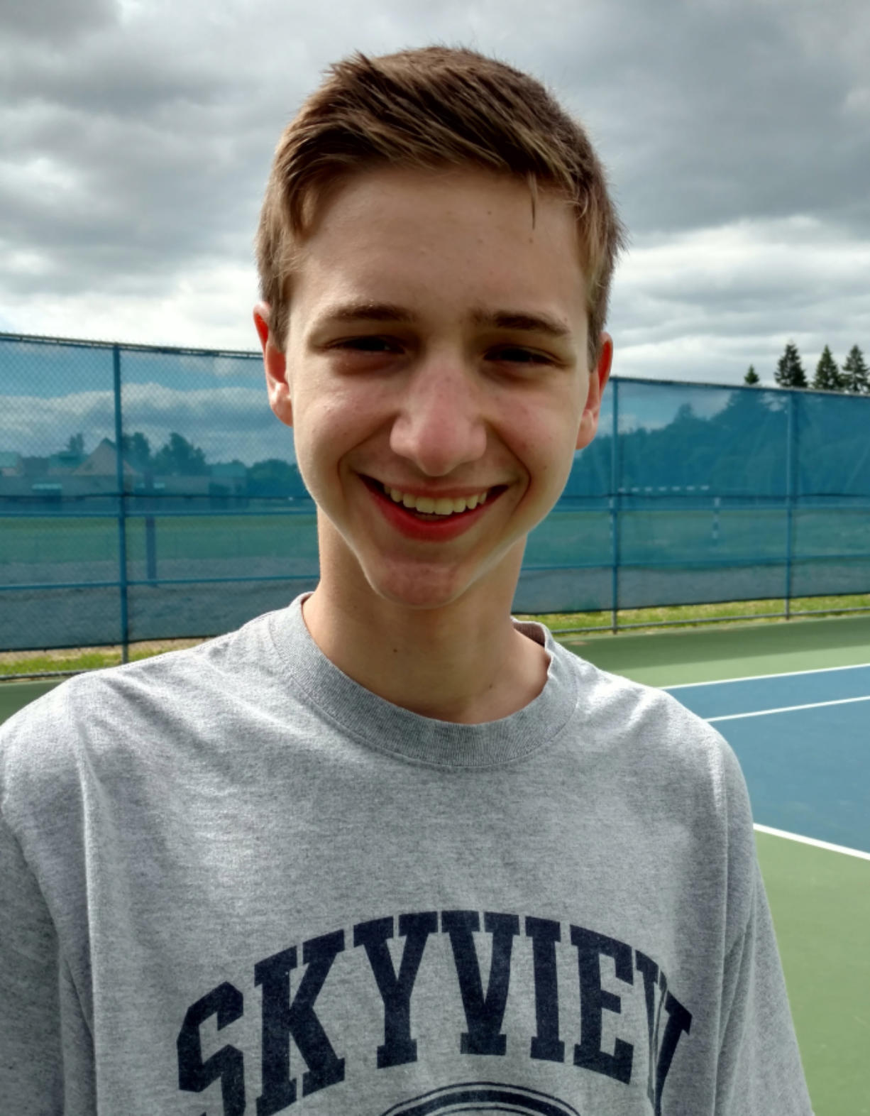 Skyview junior Andrew Kabacy won the WIAA Class 4A state singles title on Saturday, May 27, 2017 at Richland.