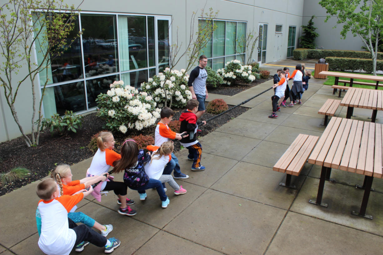 Bennington: As part of Take Our Daughters and Sons to Work Day, 100 kids visited Nautilus, where they learned about physical fitness