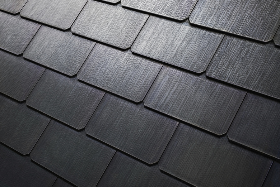 This Photo Provided By Tesla Shows A Detail Of S New Textured Solar Roof Tiles