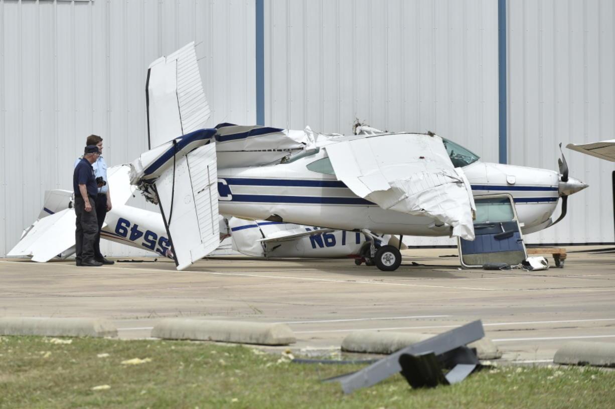 Severe weather damages dozen planes in Texas - Columbian com