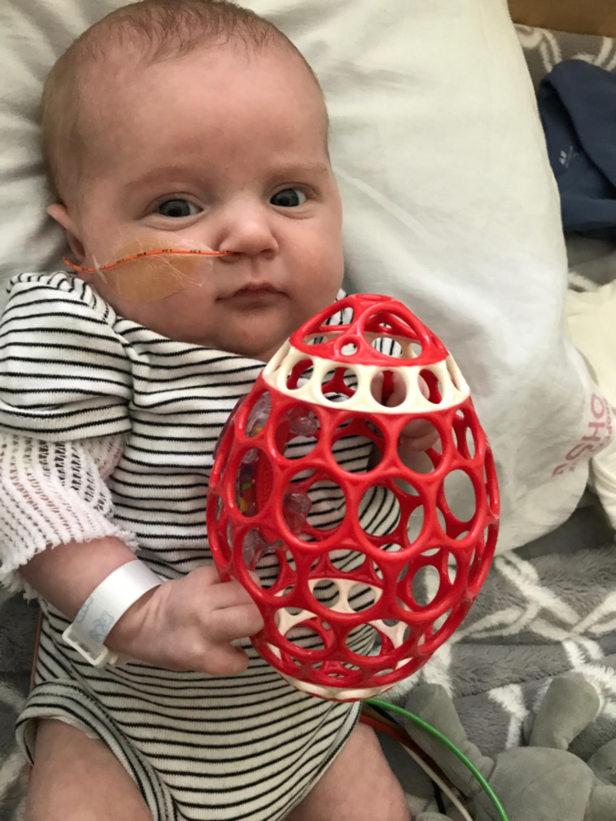 Hudson Lail underwent surgery for a congenital heart defect when he was 1 week old. He spent much of his short life in Doernbecher Children's Hospital in Portland.