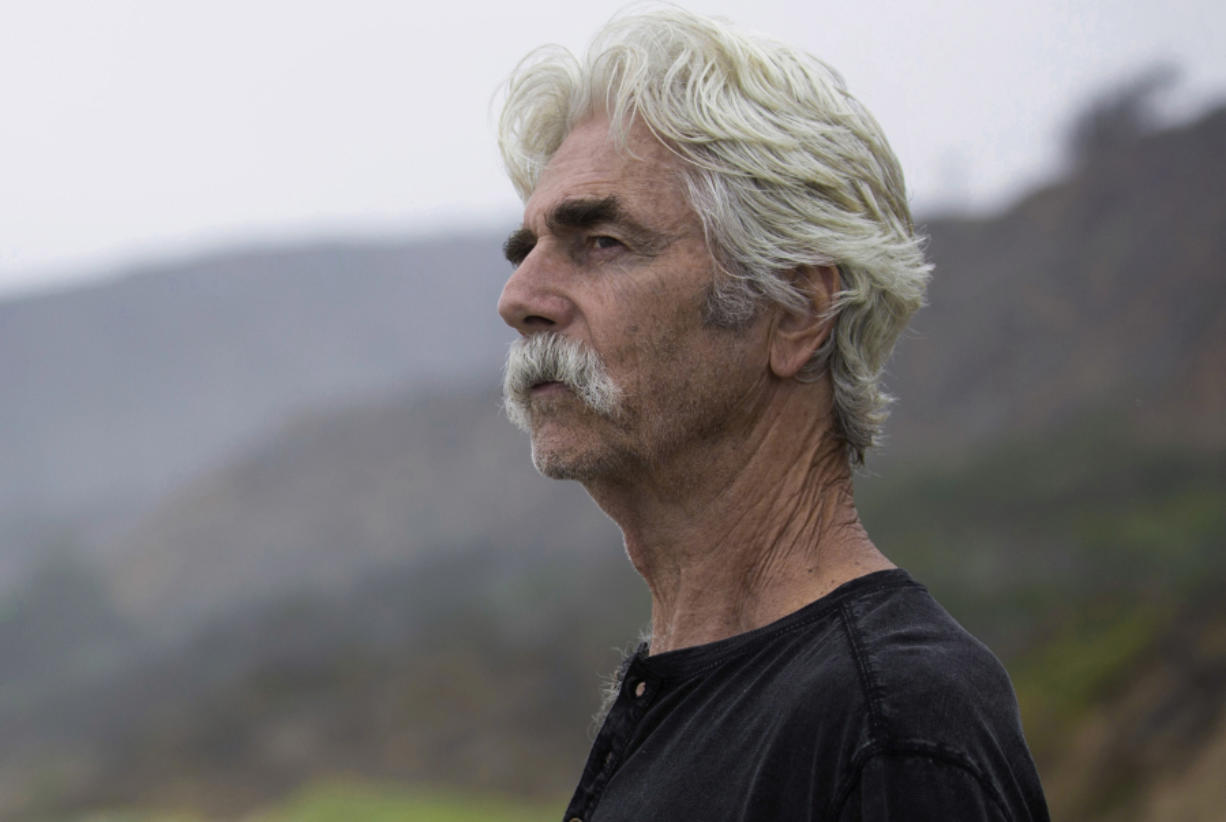 "Sam Elliott plays Lee Hayden, a hybrid of numerous Hollywood tough guys, in ""The Hero."""