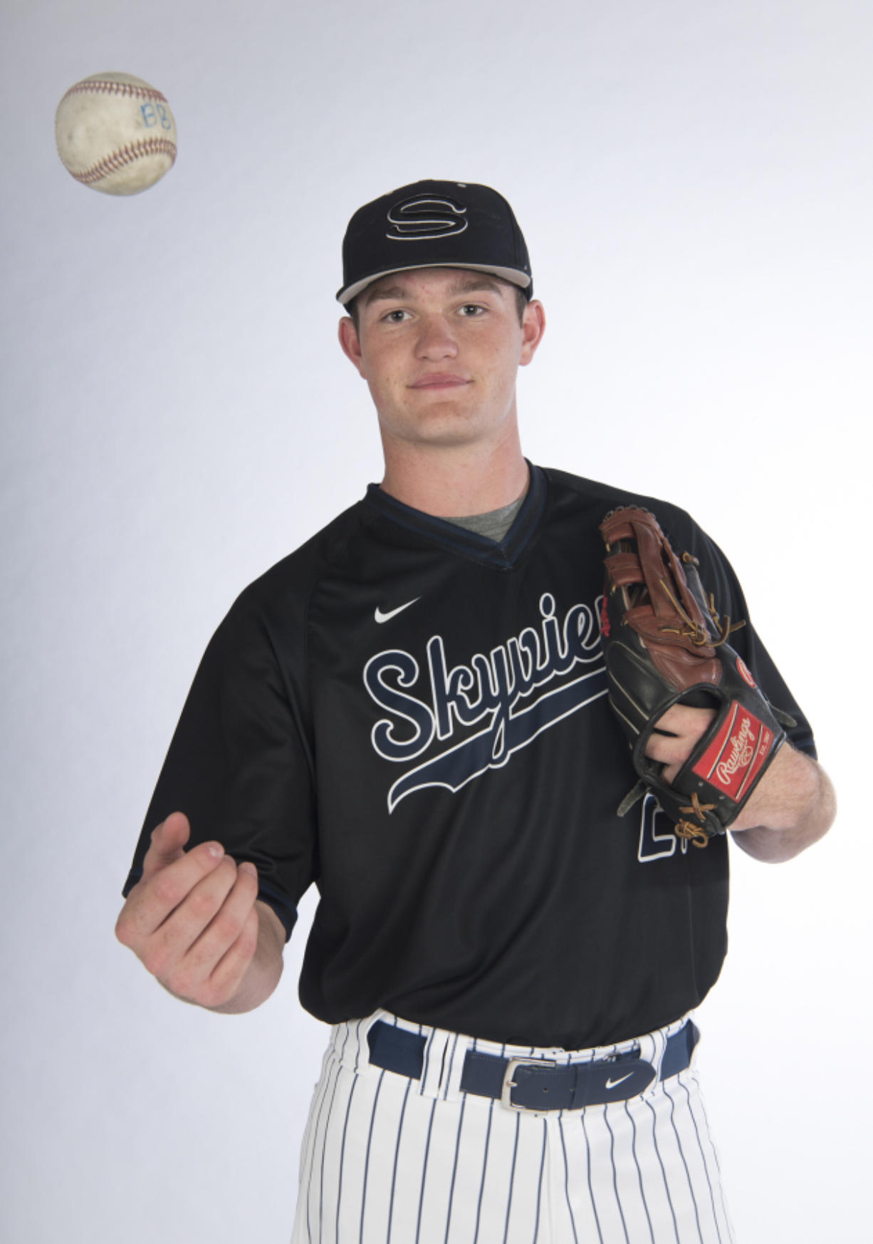 All-region baseball and multi-sport athlete of the year, Brody Barnum of Skyview High School is pictured at The Columbian, Tuesday June 7, 2017. (Ariane Kunze/The Columbian)