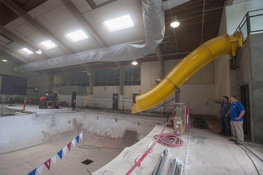 Talks With Marshall Luepke Community Center Director Andy Meade At The Pool Is In Midst Of A Major Upgrade