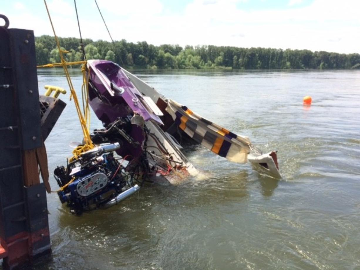 Boat in fatal crash recovered from Columbia River