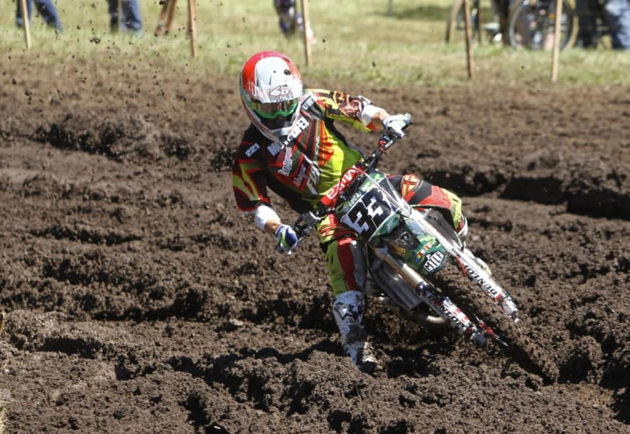 Tommy Weeck races at the Washougal MX National in 2014.