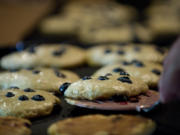 Take a bite of blueberry pancakes during a sampling event at the Cedar Creek Grist Mill.