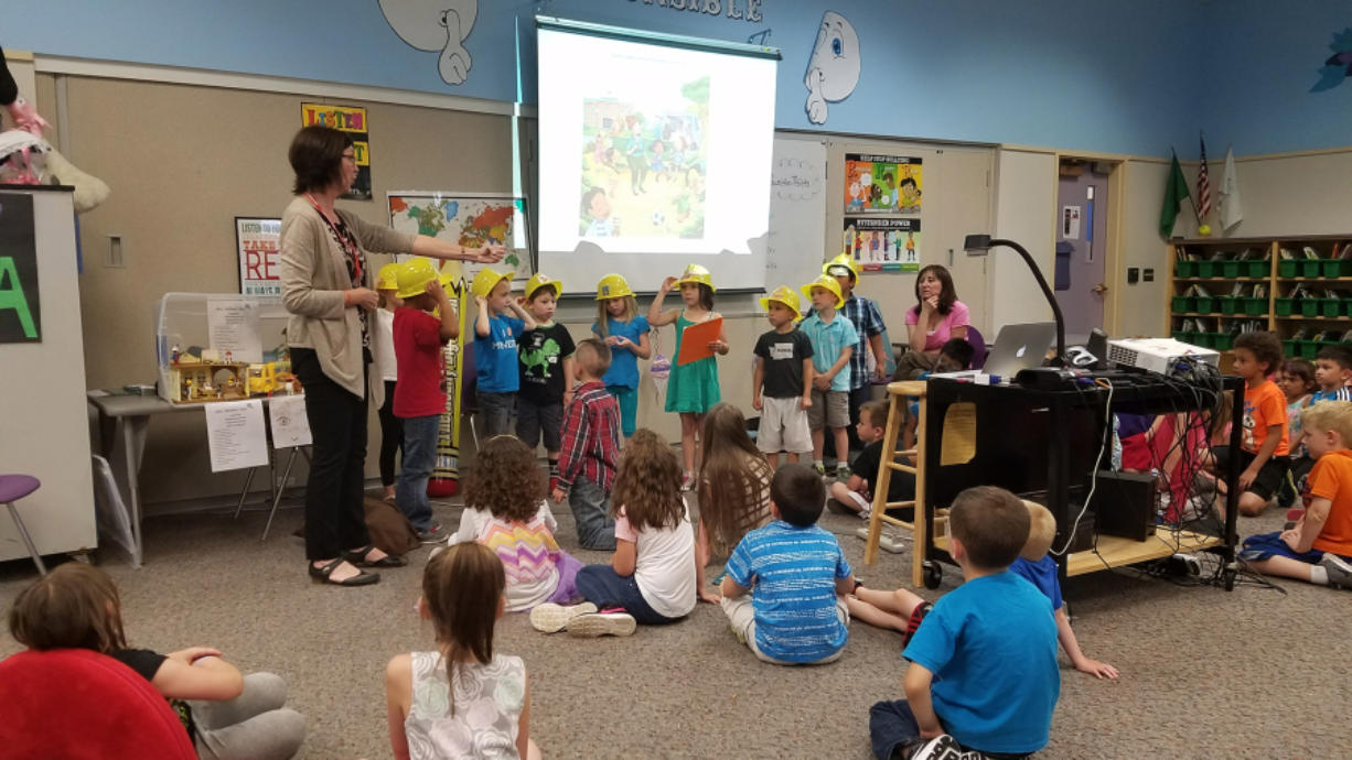 Washougal: Author Gretchen McLellan taught Hathaway Elementary School students in kindergarten through second grade about change and coping with loss during a visit in June.