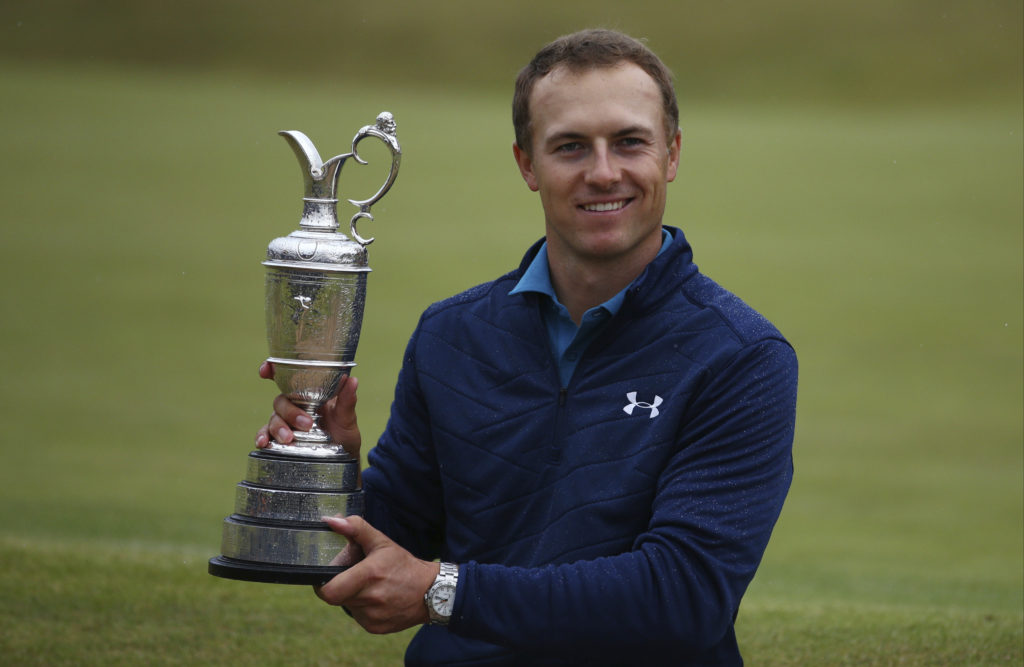Jordan Spieth Of The United States Holds The Claret Jug After Winning The British Open Golf