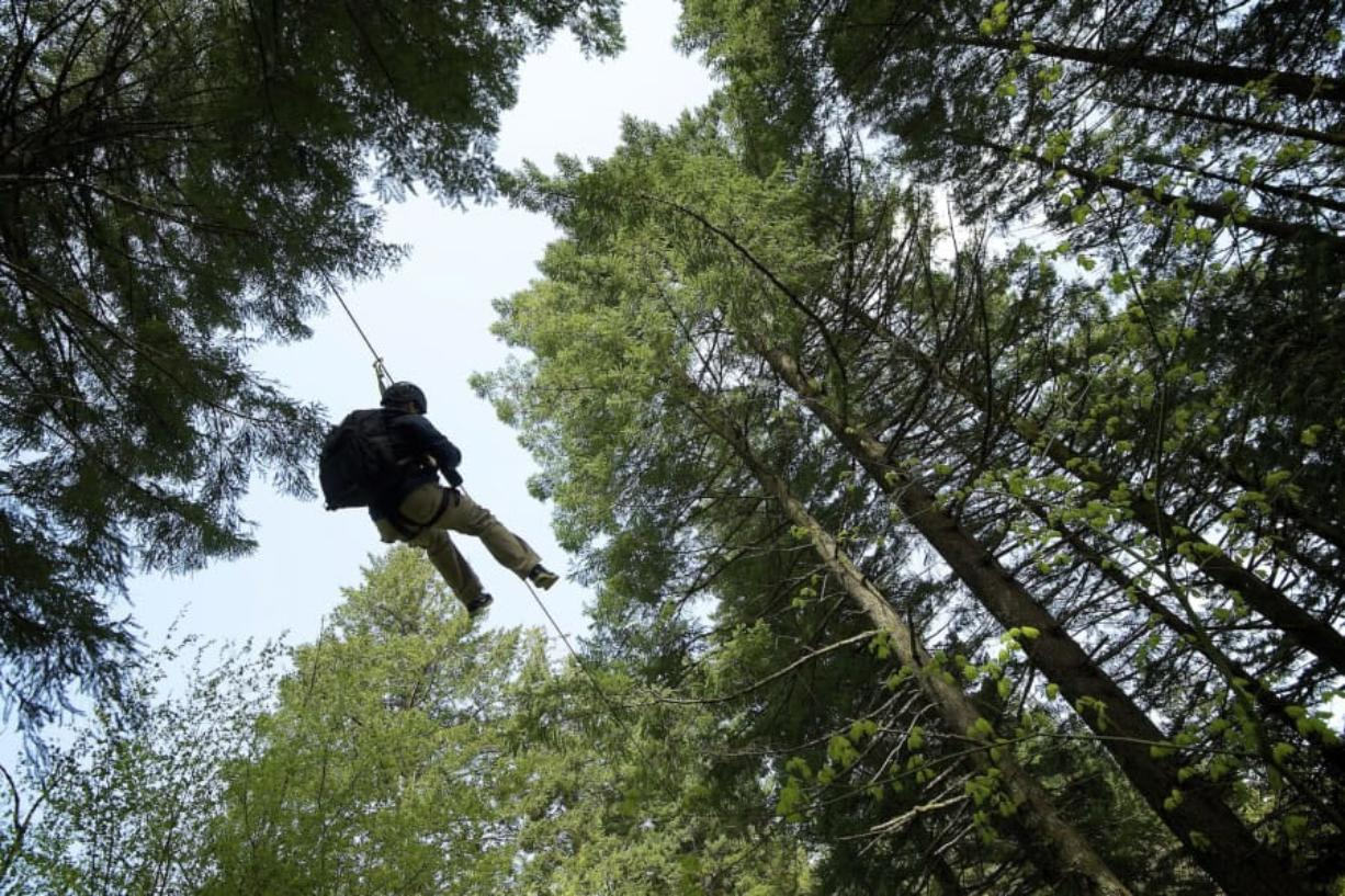 The Columbia River Gorge is one of several destinations that can be explored within a day's drive from Vancouver. Zip line tours are offered at Skamania Lodge, which recently opened an aerial adventure park.