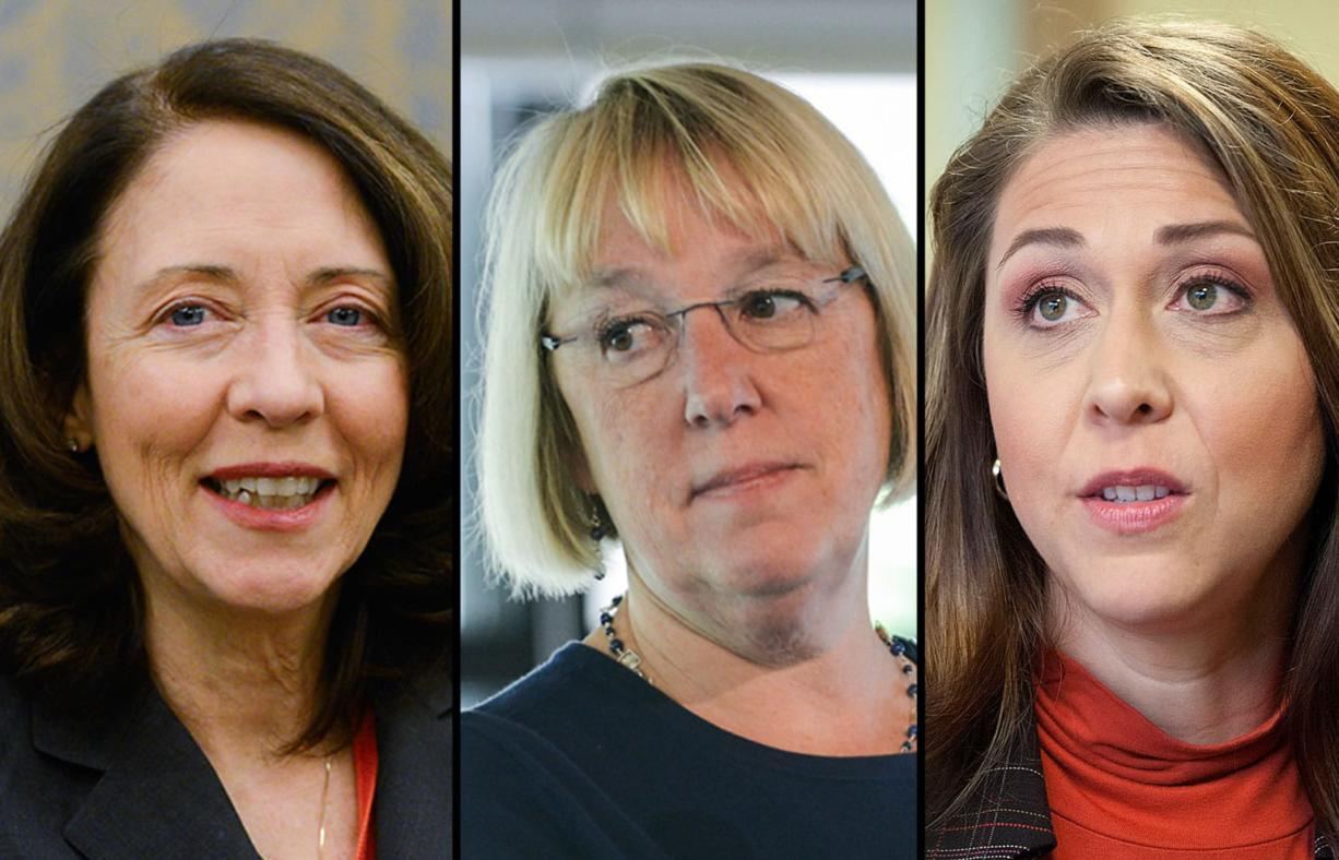 Sen. Maria Cantwell, from left, Sen. Patty Murray, and Rep.