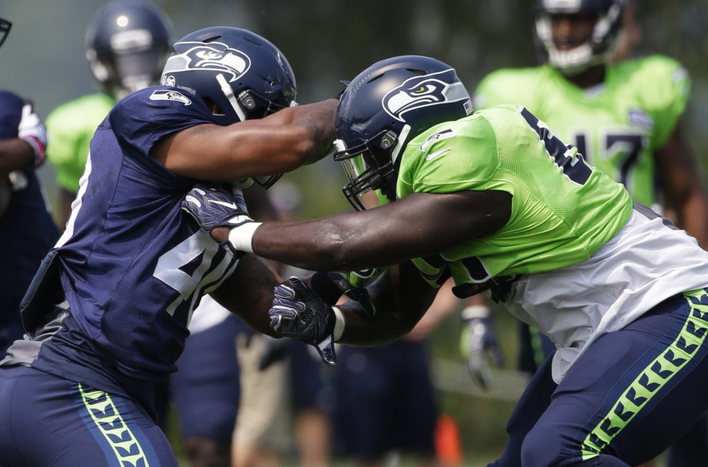 567097523e0 Seahawks  Frank Clark expected back soon after scuffle