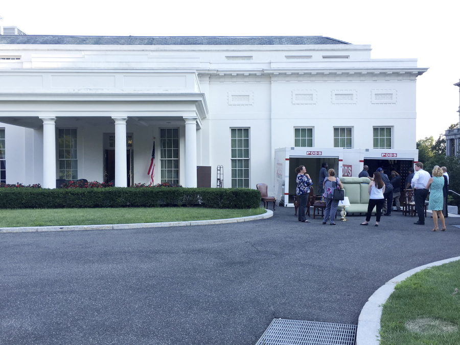 Pods Containers Are Loaded Friday At The White House West Wing Is Getting A