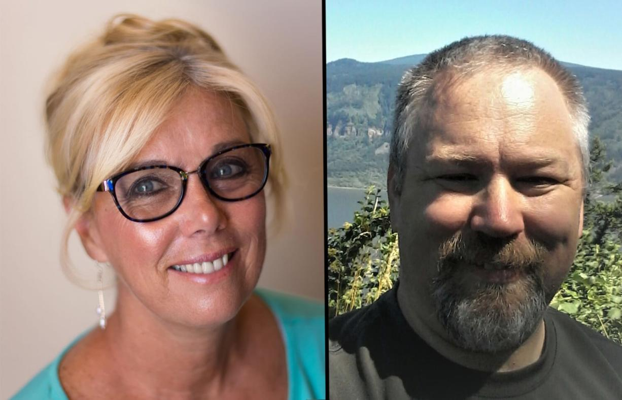 Candidates for the Washougal city council Julie Russell and Adam Philbin are leading in voting Tuesday.