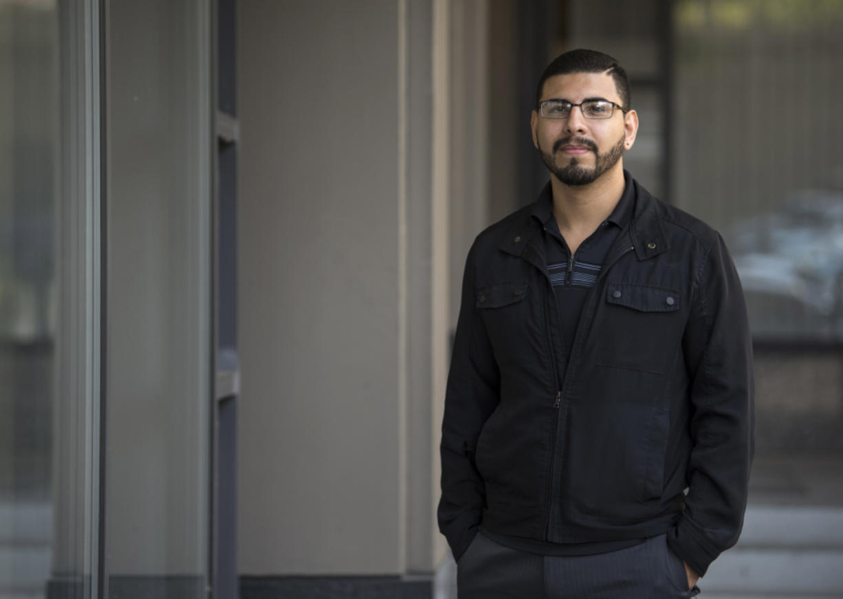 Vancouver's Marco Chavez-Silva, 24, is pictured Aug. 25 outside his attorney's downtown Vancouver office. Chavez emigrated from Guadalajara, Mexico, to the U.S. with his parents when he was 3 years old. Previously a DACA recipient, Chavez is facing deportation proceedings. Alisha Jucevic/The Columbian
