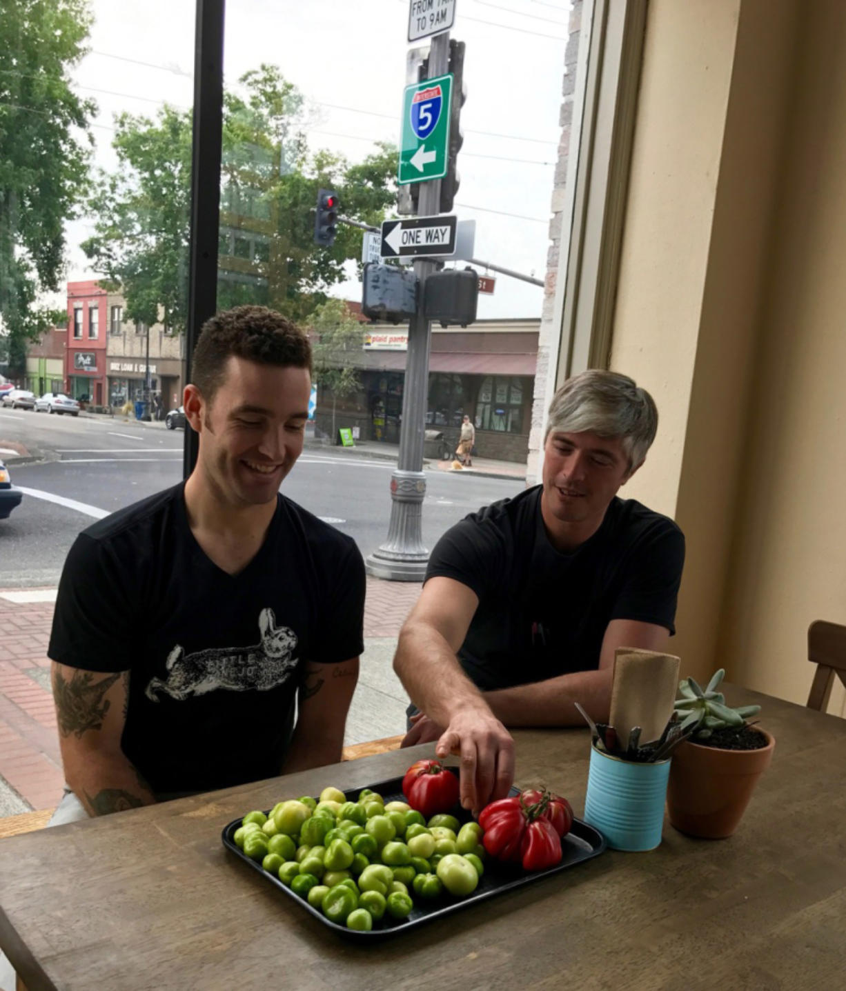 Little Conejo owners Mychal Dynes and Mark Wooten talk about the produce from Mark's farm, Phantom Rabbit Farm, that they use in their downtown Vancouver restaurant.