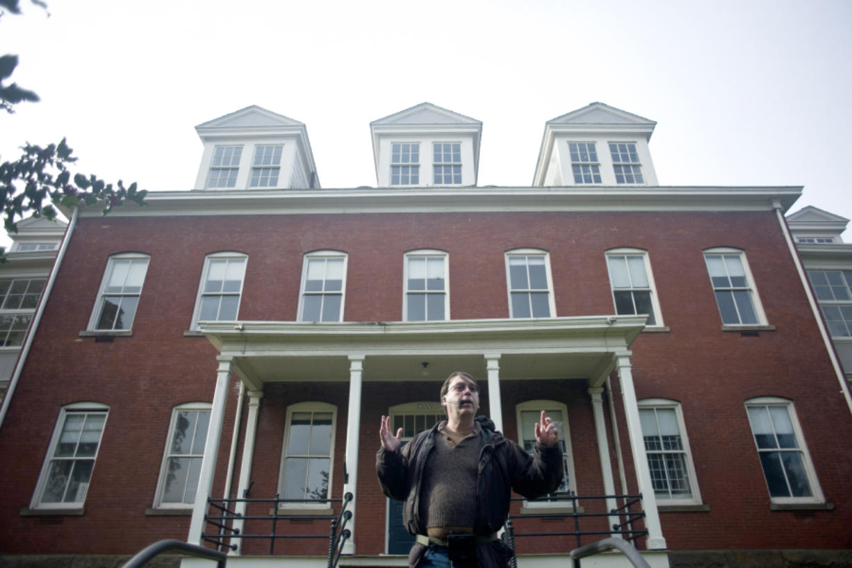 Historian Jeff Davis tells a tale about spending the night in the haunted Post Hospital at Fort Vancouver during the Spirit Tales Walking Tour in October. He's back with more spooky stories this season.