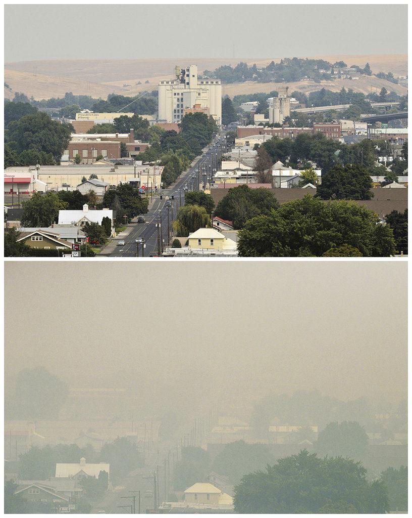 Late Season U S Wildfires Choke Cities Towns With Smoke The