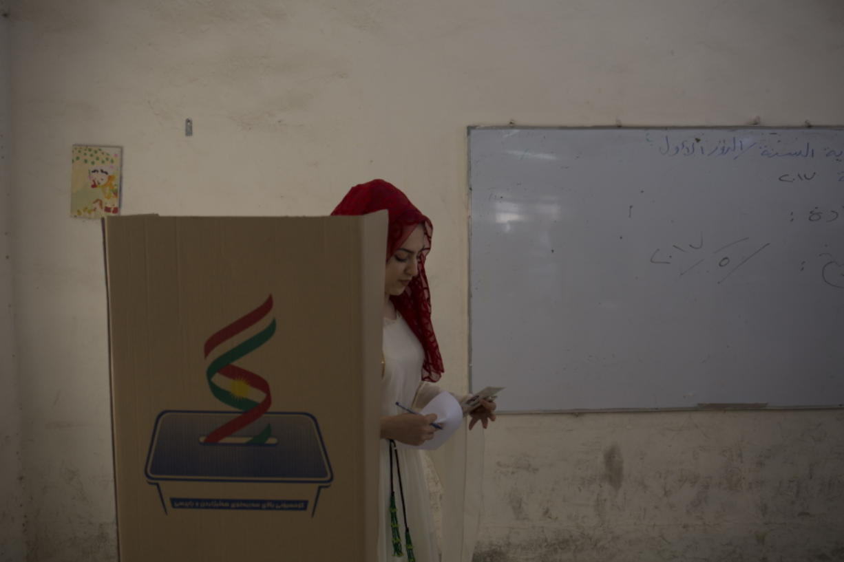 Iraqi Kurds vote on independence - Columbian com