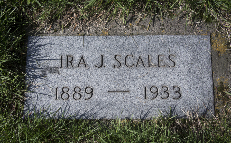 e487730dd00 The grave marker for Ira Scales at Park Hill Cemetery in Vancouver. The  body of