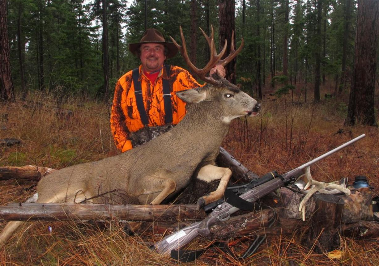 Buzz Ramsey poses with a deer he took during last year's hunting season. Photo courtesy of Buzz Ramsey