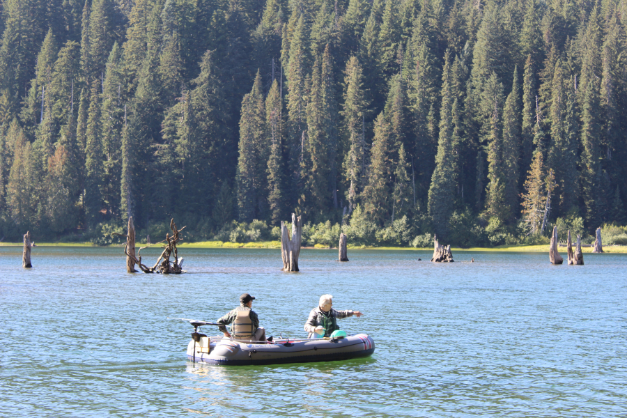 Fall Trout Whereabouts: Goose Lake offers prime mountain spot