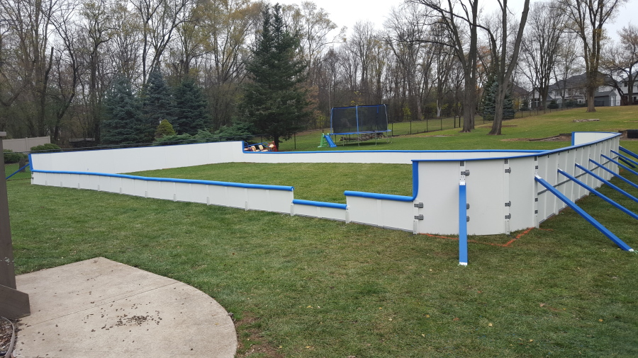 20, 2015 Photo Provided By Iron Sleek Shows A Backyard Rink Kit