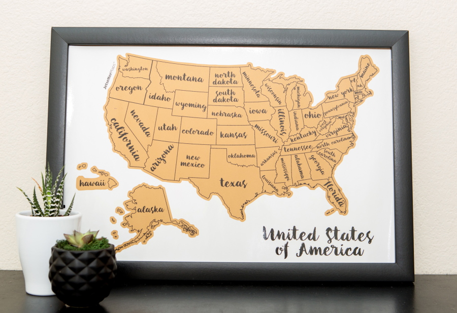 The Quest To Visit All States The Columbian - Travel to all 50 states map