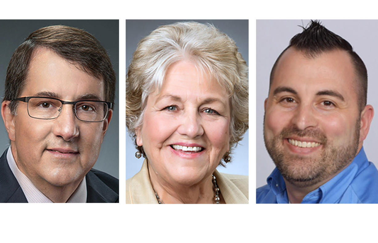 Washougal mayoral candidates: Dan Coursey, Molly Coston, Paul Godin