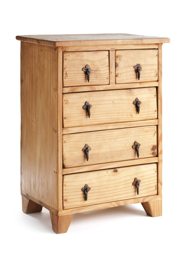 Rustic Small Wooden Chest Of Drawers Cabinet Built In The Classic American  Southwest Furniture Style