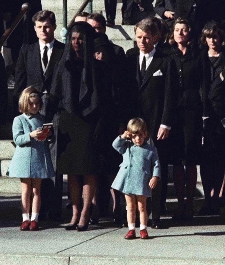 John F Kennedy Jr 3 Salutes His Father S Casket Nov 25