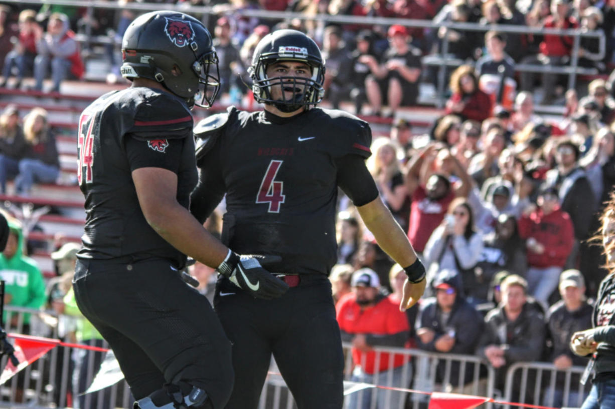 Central Washington quarterback Reilly Hennessey (4) has thrown for 2,286 yards and 26 touchdowns while leading the Wildcats to an undefeated regular season (Courtesy of CWU Athletics)