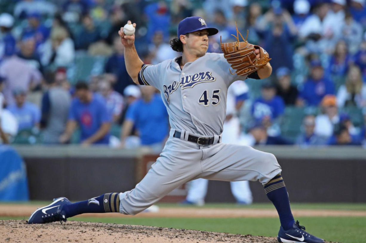 Taylor WIlliams, a Camas High grad, overcame a long injury layoff to reach the major leagues last season with the Milwaukee Brewers.